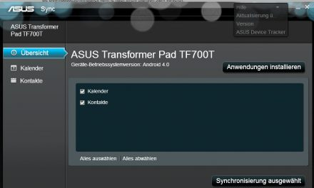 ASUS Transformer TF700t sync with Outlook