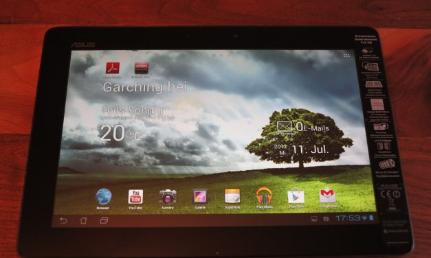 Test Asus Transformer Infinity TF700T Tablet
