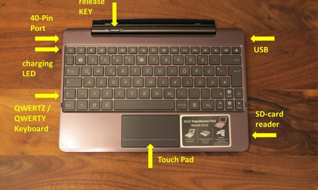 Asus Transformer Infinity TF700T Mobile Dock – Keydock