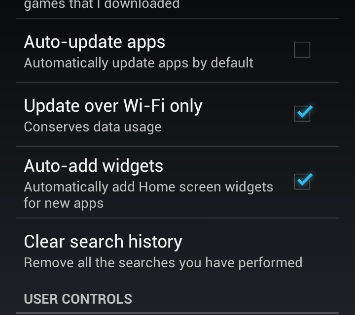Samsung Galaxy S3 – deactivate auto update apps