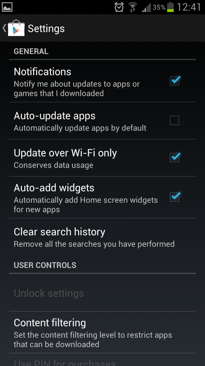 Samsung Galaxy S3 €� Deactivate Auto Update Apps