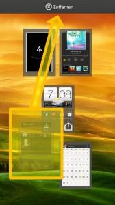 HTC ONE X - Homescreen Feld löschen