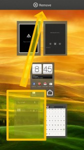 HTC ONE X - Homescreen remove panel