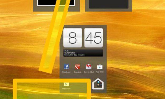 HTC ONE X – Homescreen settings