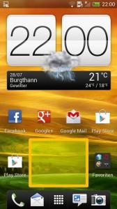HTC ONE X - Homescreen freier Bereich