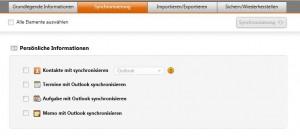 Outlook synchronisieren mit Samsung Kies