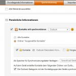 Outlook Kontakte mit Samsung Galaxy Ace 2 synchronisieren