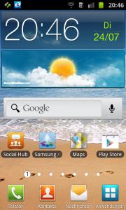 Samsung Galaxy Ace 2 Startbildschirme
