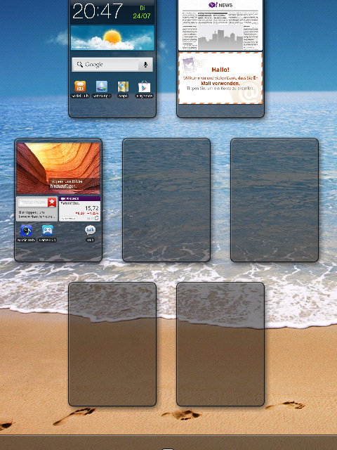 Samsung Galaxy Ace 2 Startbildschirme löschen