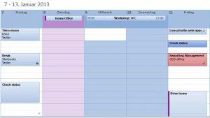 Outlook schedule