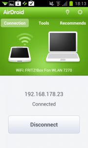 AirDroid - Connected