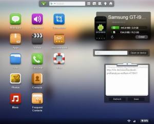 AirDroid - Funktionen im Browser