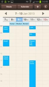 Samsung Galaxy Note 2 - S Planner synchronisieren