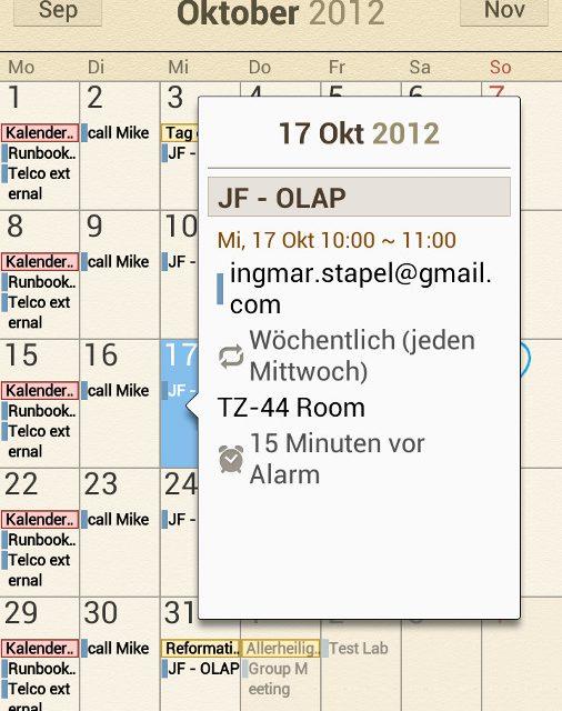 Samsung Galaxy Note 2 – S Planner Termine synchronisieren mit Microsoft Outlook