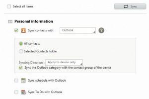 Samsung Galaxy Note 2 - Samsung Kies sync contacts