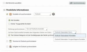 Samsung Galaxy Note 2 - mit Samsung Kies das Note 2 nach Outlook synchronisieren
