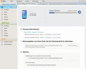 Samsung Galaxy Note 2 mit Samsung Kies