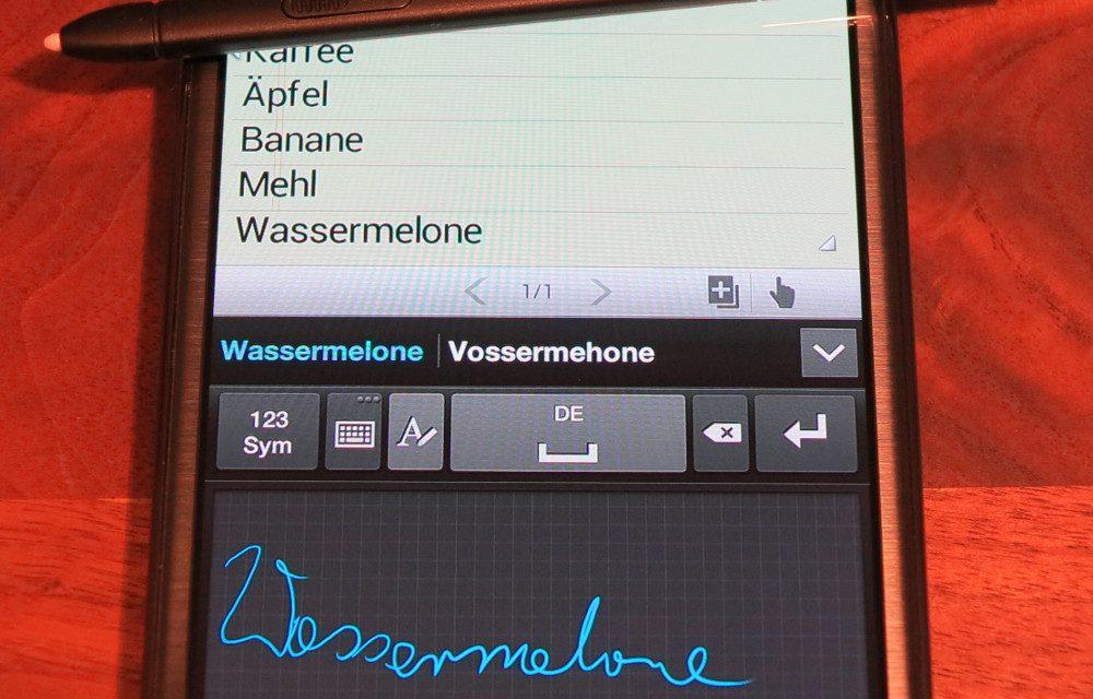 Samsung Galaxy Note 2 – S Note mit S Pan