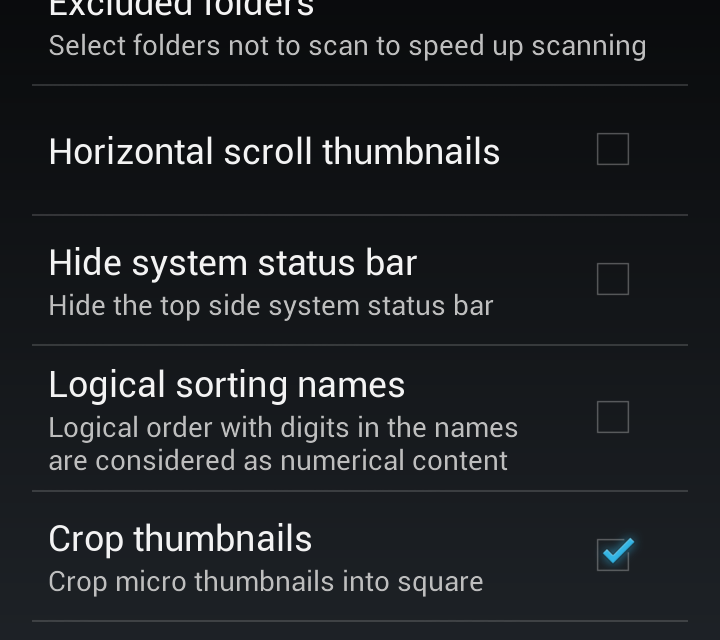 Samsung Galaxy S3 hide pictures, covers, videos in Gallery App
