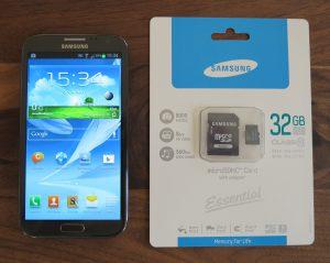 Samsung Galaxy Note 2 - microSD-Karte