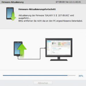 GALAXY S II GT-I9100 - Firmware-Aktualisierungsfortschritt