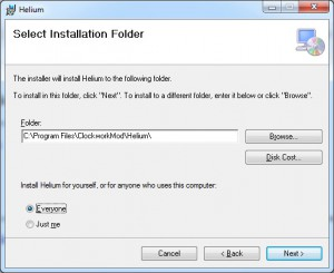 Helium Backup - Desktop Installation Windows