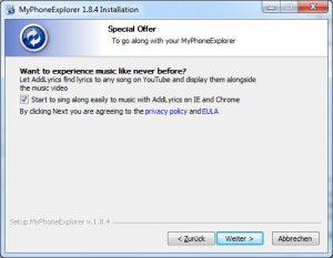 MyPhoneExplorer - AddLyris plugin