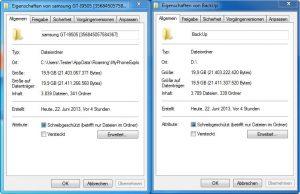 MyPhoneExplorer - Backup doppelt gesichert