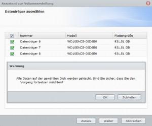Synology DiskStation 1813 - Speicher-Manager Raid5 erstellen