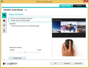 Logitech - SetPoint Ultrathin Touch Mouse t630