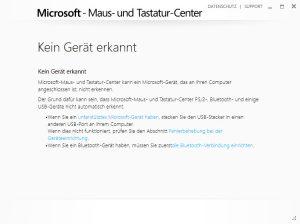 Microsoft-Maus- und Tastatur-Center