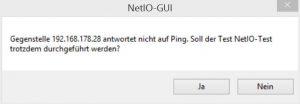 Surface Pro 2 NetIO Gegenstelle antwortet nicht