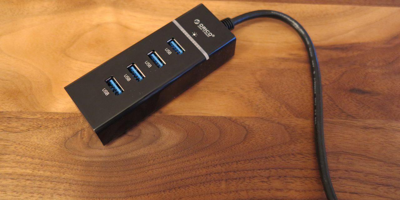 ORICO W8PH4 4 port USB 3.0 hub ohne Netzteil Testbericht