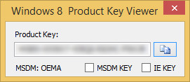 Microsoft Surface Pro 2 – Windows 8 Product Key Viewer