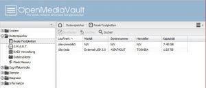 OpenMediaVault Festplattenverwaltung