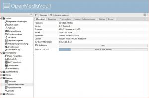 OpenMediaVault Web Oberfläche