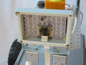 Infrarot LED Scheinwerfer im Einsatz