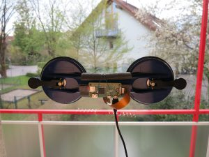 MotionEyeOS Raspberry Pi Kamera Halterung am Fenster