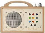 MP3-Player für Kinder: hörbert - Aus Holz und Edelstahl. Tragbar mit eingebautem Lautsprecher, Lautstärkebegrenzung und SD-Card für 17h Inhalte in 9 Playlists. Keine Kopfhörer und kein Display.