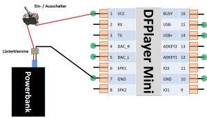 DFPlayer Mini Stromversorgung