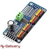 AZDelivery PCA9685 16 Kanal 12 Bit PWM Servotreiber für Arduino und Raspberry Pi