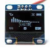 Gosear 0,96 Zoll I2C IIC SPI serielle 128 x 64 OLED LCD LED Display-Modul für Arduino Blau Wort