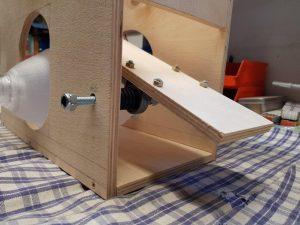 DIY ventilator construction v2 wiper motor back