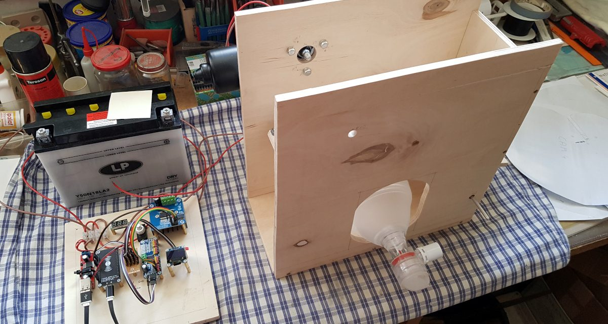 Second test setup – DIY workaround bridge ventilator project vs coronavirus