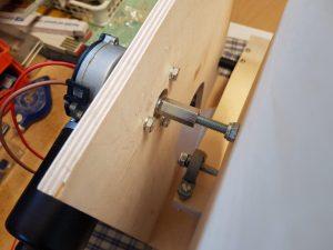 DIY ventilator construction v2 wiper motor shaft screws