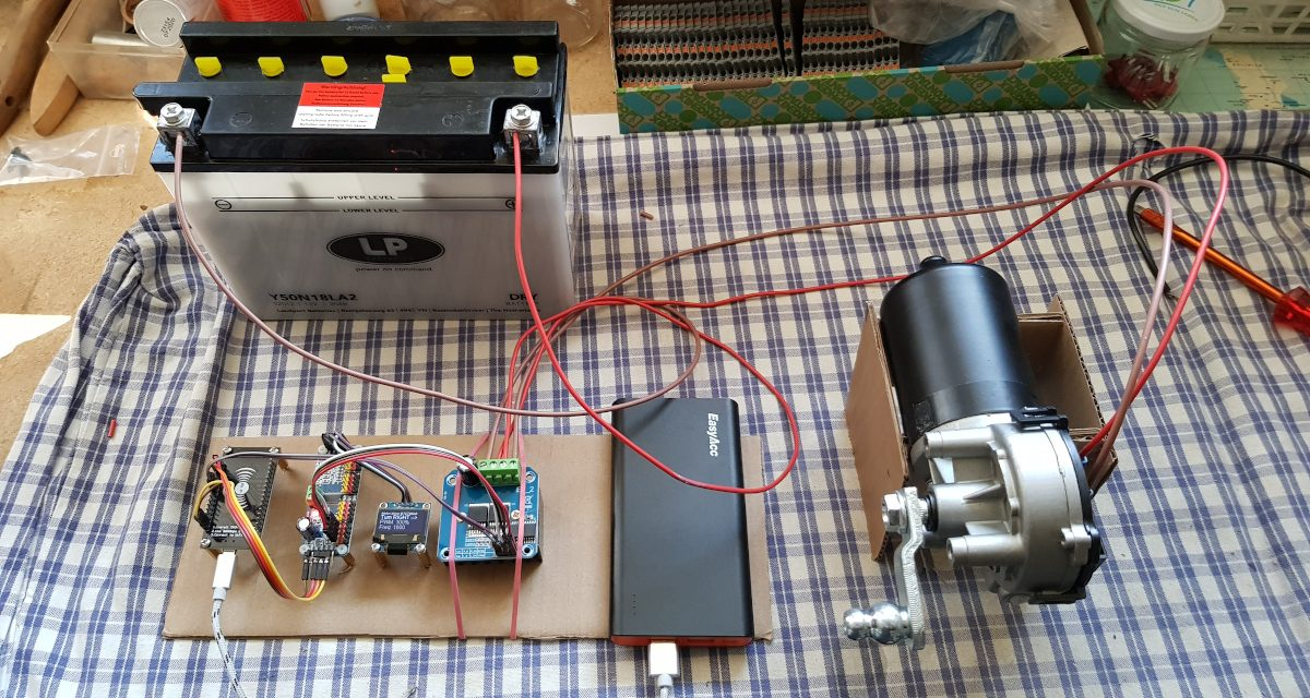 Windshield wiper motor control – DIY workaround bridge ventilator project vs coronavirus