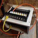 deleyCON Patchpanel Verteilerfeld 8 Port mit Switch